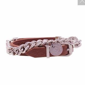 Victoria Emerson Lock Charm Double Wrap Bracelet